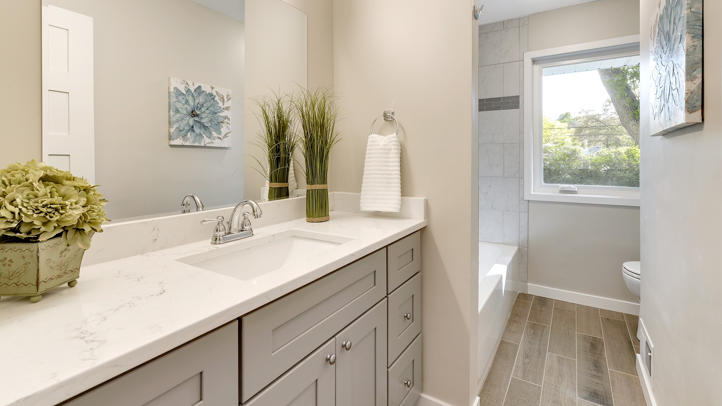 Gray Bathroom Vanity Cabinet