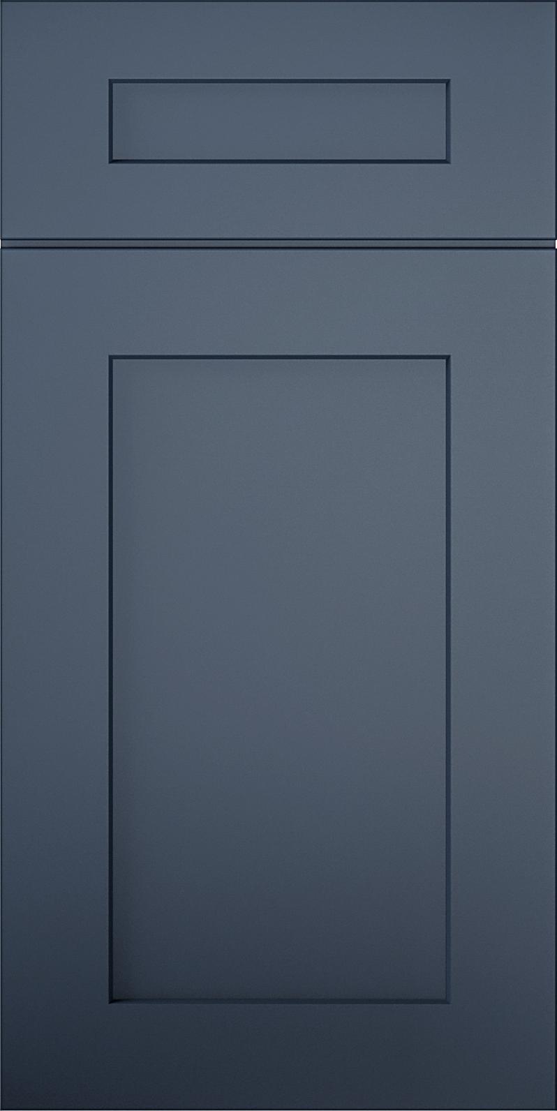 Aria Blue Shaker Cabinet Door