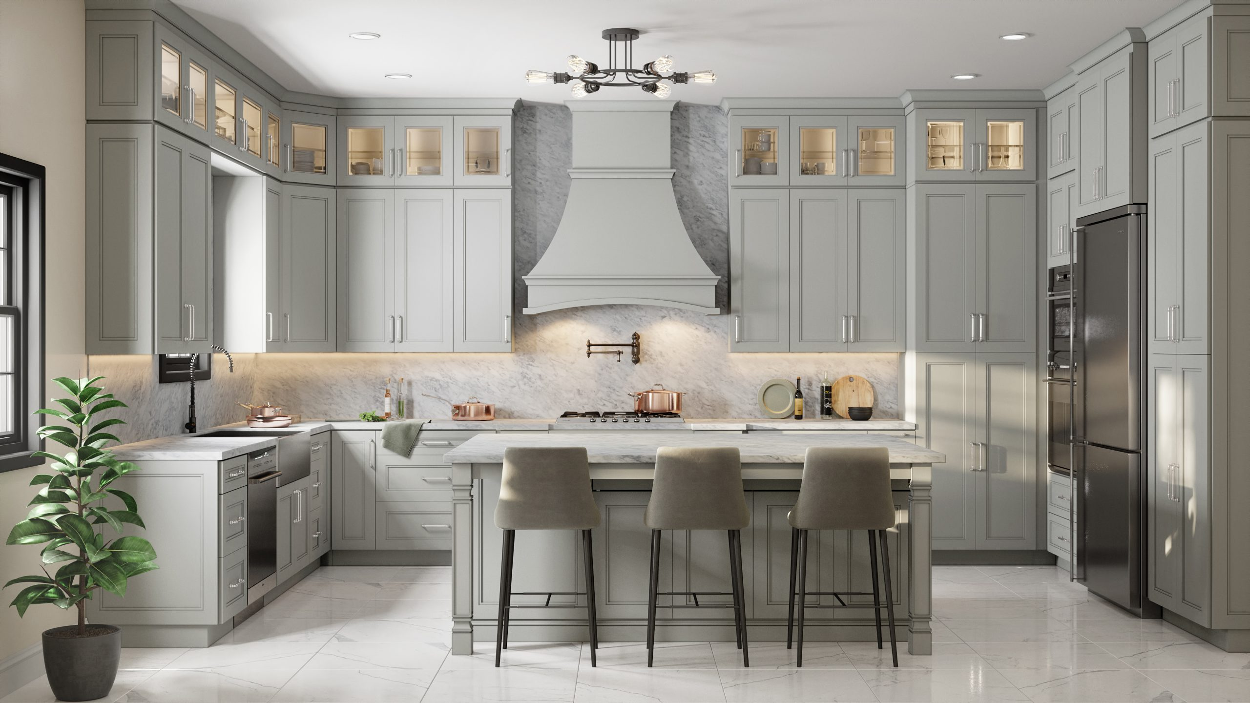 Sterling Gray Kitchen at Carr Cabinets