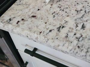 White Ice Granite Half Inch Beveled Edge