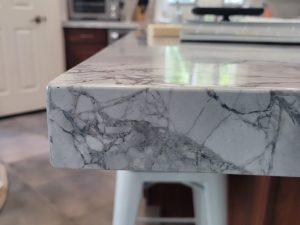 Mitered Edge Super White Quartzite