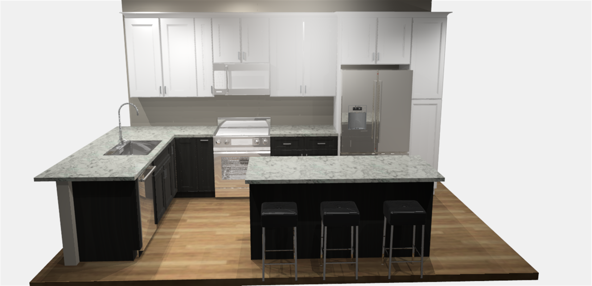 Becky & Hector's Two Tone Kitchen