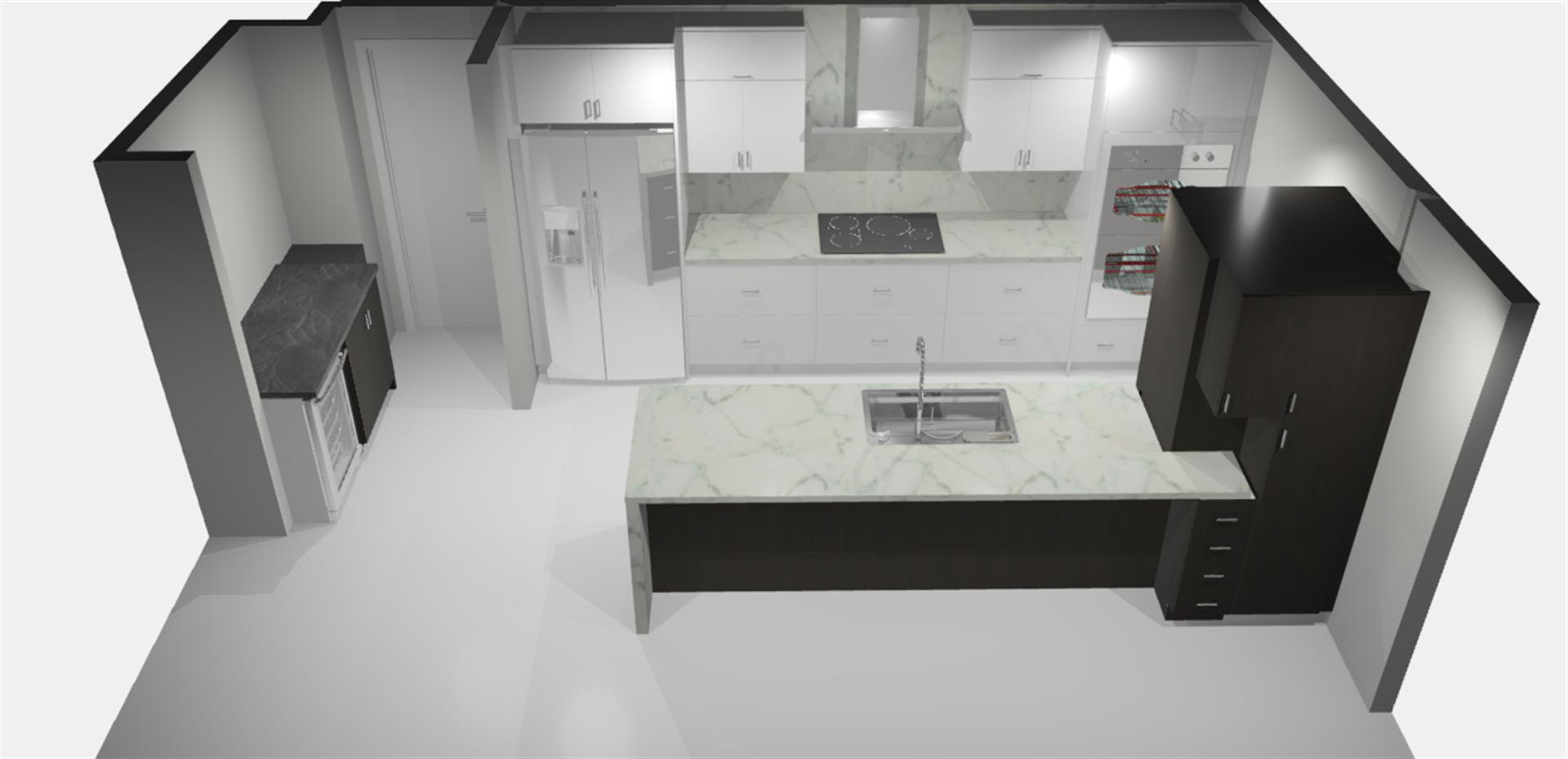 Vicki Penthouse Modern Makeover Kitchen